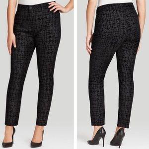 NYDJ Black Velvet Houndstooth Jeans Size 6 NWT